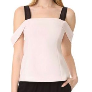 Cinq a sept draped sleeve blouse
